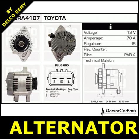 toyota yaris verso alternators parts ebay alternator toyota yaris verso yaris vitz dra4107 ebay