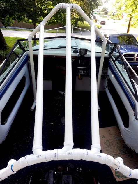 how to build a boat cover frame my quot pvc based boat cover frame support quot build page 1