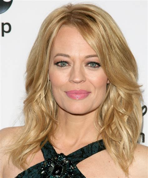 jeri ryan medium wavy casual hairstyle golden