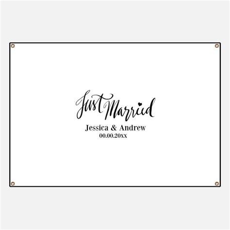 Wedding Banner Just Married by Just Married Banners Signs Vinyl Banners Banner