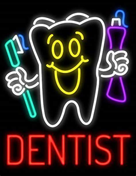 Lu Neon Sign dentist neon sign made in usa