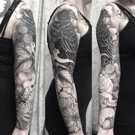 black and grey tattoo designs for men 40 tattoos on sleeve