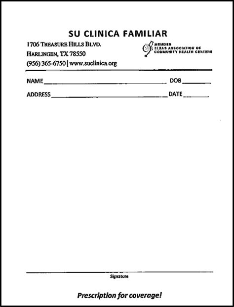 prescription pad template prescription for coverage provider referrals for
