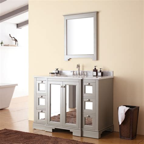 avanity newport 48 modern single sink bathroom vanity