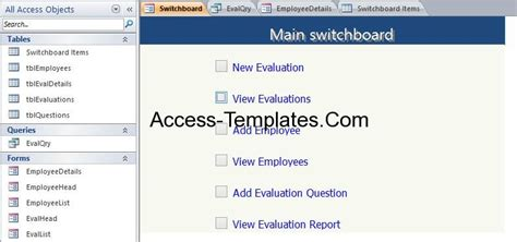 Access Employee Database Templates For Ms Access 2013 And 2016 Access Database And Templates Microsoft Access Employee Database Template