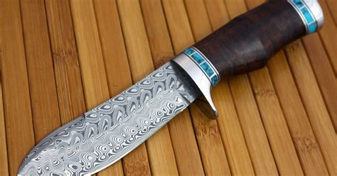 Handmade Bowie Knives For Sale - handmade bowie knife in a new look with eye catching
