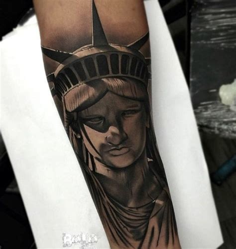 single needle tattoo nyc statue of liberty flame tattoo the best liberty of 2017