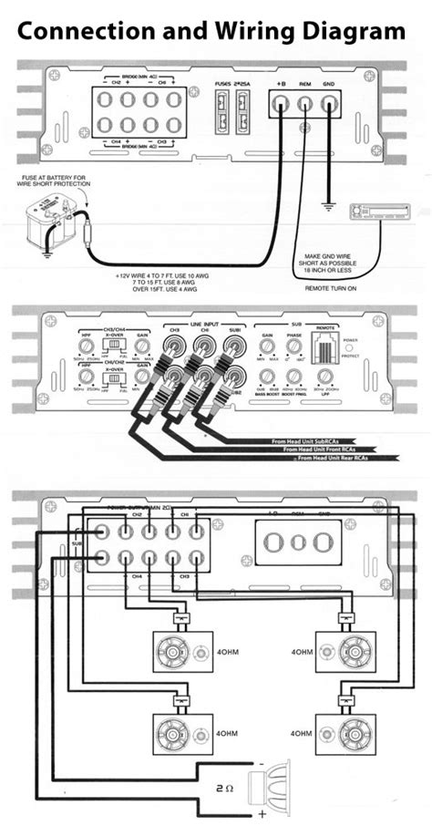 5 channel car lifier wiring diagram 5 get free image