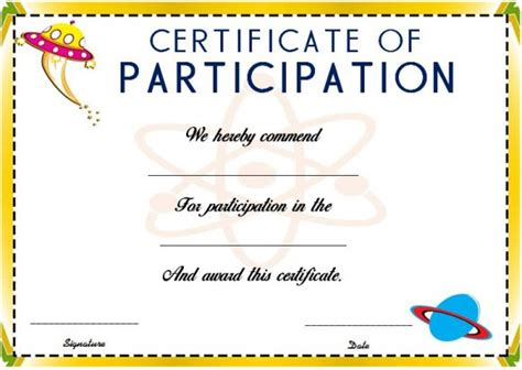 science certificate templates science fair participation certificate 11 free editable