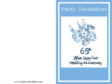 65th wedding anniversary invitations 65th wedding anniversary clipart 9