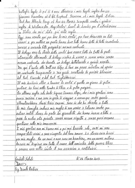lettere per mamma la lettera scritta da restivo a mamma filomena