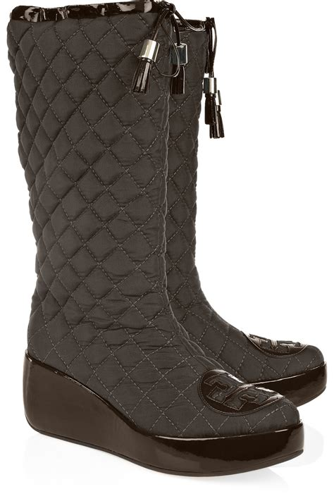 Quilted Boots by Burch Quilted Canvas Snow Boots In Brown Lyst