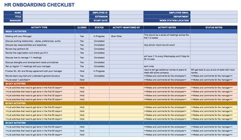 Free Onboarding Checklists And Templates Smartsheet Intern Onboarding Template