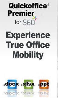 Quick Office 6 2 Updated For S60v5 5800 5530 N97 Download | quickoffice premier 6 2 240 free symbian s60 3rd 5th