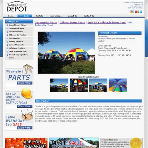 tables tents depot orlando web design company