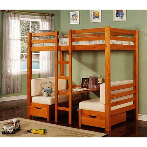 Bunk Bed With Table Loft Beds Walmart Table Convertible Bunk Bed Maple Rooms Walmart