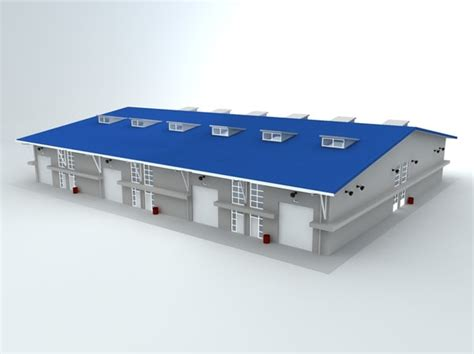 warehouse layout models 3d model warehouse