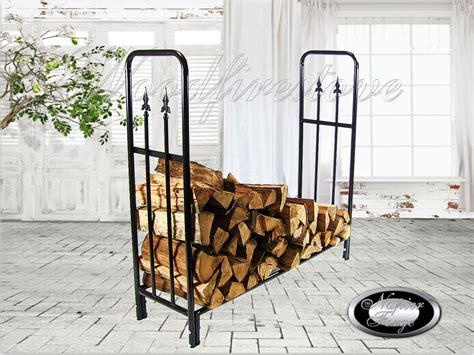 wrought iron firewood rack firewood storage rack portland wrought iron curved log holder wood rack