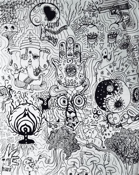 trippy elephant coloring pages trippy doodle page shared by aurora on we heart it