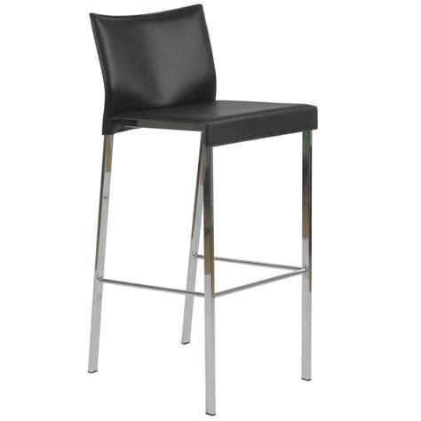leather and chrome bar stools riley leather barstool black chrome bar stools