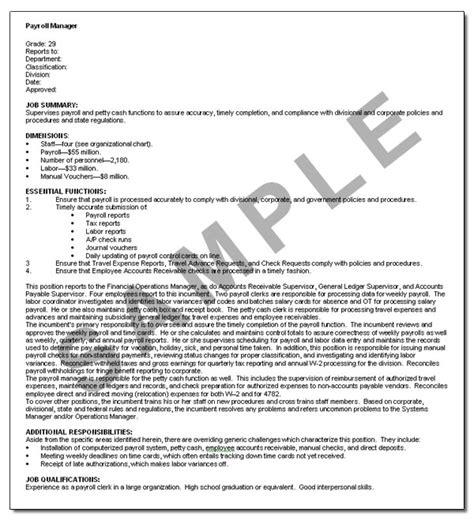 national job descriptions laws regulations analysis