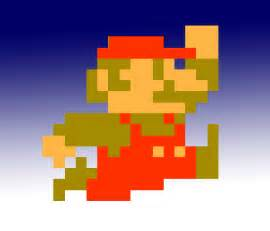 Pixelated Mario Characters Old Nintendo Icon In 3ds