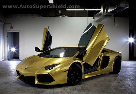 gold lamborghini auto supershield is bringing luxury chrome paint wraps to