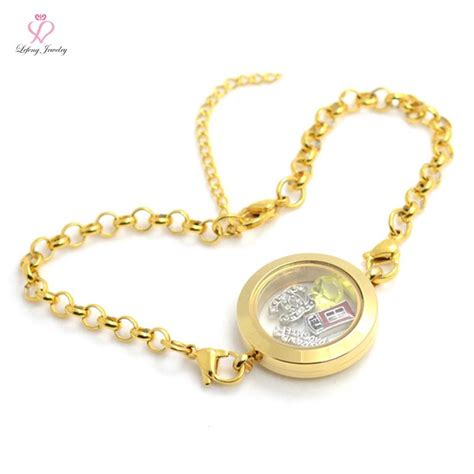 origami owl charms wholesale aliexpress buy wholesale diy 25mm gold 316l