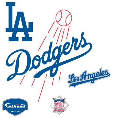 Baseball Crib Bedding Los Angeles Dodgers Logo Fathead Mlb Wall Graphic