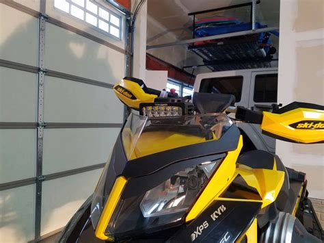 snowmobile led light bar how to 6 inch led light bar on a snowmobile rev xp xs