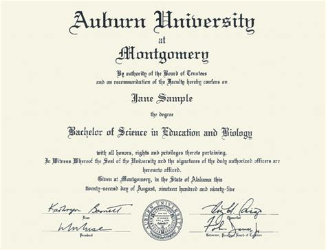 Auburn Mba Admission Requirements by Diploma Auburn Diploma Frame