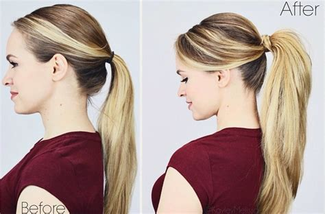 hairstyles kayley melissa rock a classic ponytail for back to school here s how
