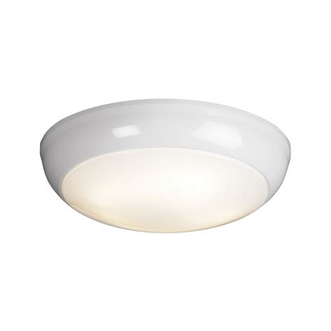 saxby s5512 vigor 1 light gloss white plastic flush fitting