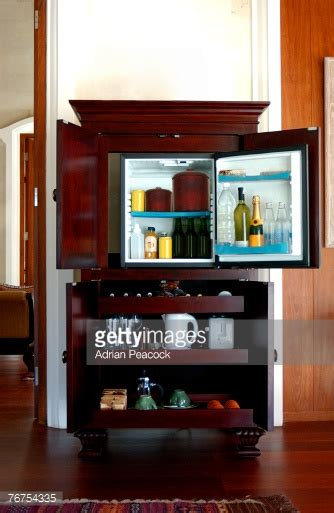 Hotel Mini Bar Cabinet Mini Bar Fridge Stock Photos And Pictures Getty Images