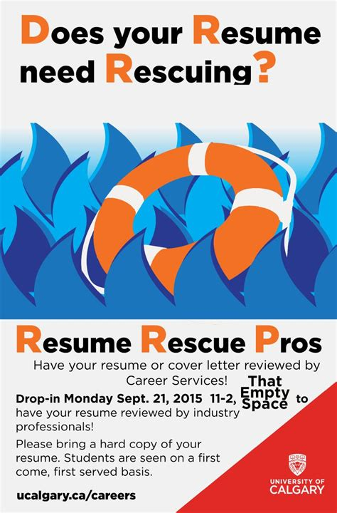 Resume U Of C by Resume Rescue Pros Student Events Students Union U Of C