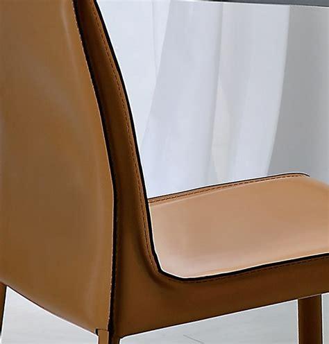 sedia cuoio sedia frida s di varo con struttura in acciaio rivestita