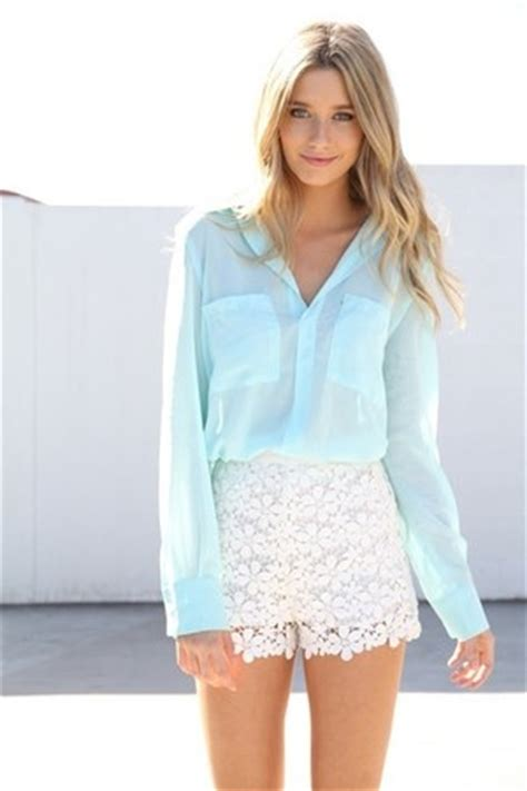 White Lace Skirt And Blouse by White Lace Mini Skirt With Sky Blue Blouse Pictures
