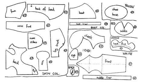 yoshi template the pieces for making a yoshi plush good