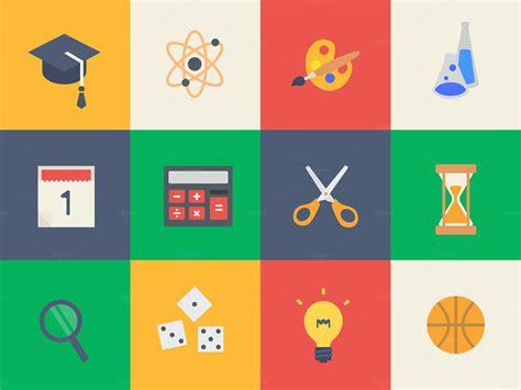 Design Education Icon   education icons infographics flat design education