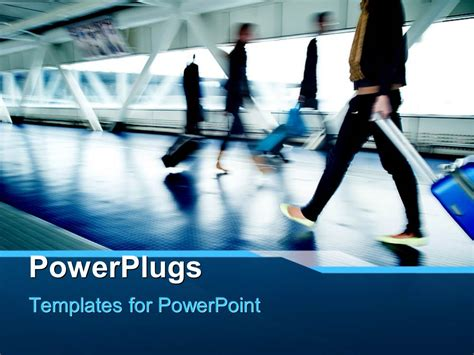 airport powerpoint template powerpoint template a number of on the railway