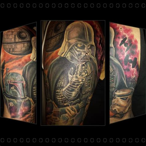 area 51 tattoos completed wars half sleeve by chris 51 of area 51