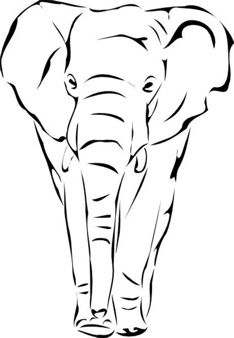 african elephant outline tattoo pinterest images of sketches of elephants face images pictures becuo