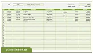 General Ledger Templates by General Ledger Excel Templates