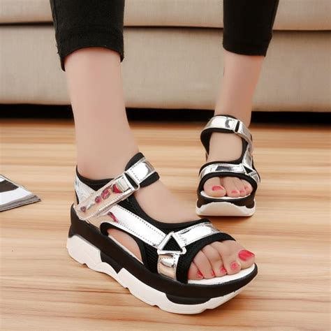 comfortable high heels brands sandals summer slippers casual fashion