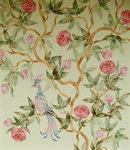 Wall Mural Printing stencil chinese rose tree wall stencil painting stencil
