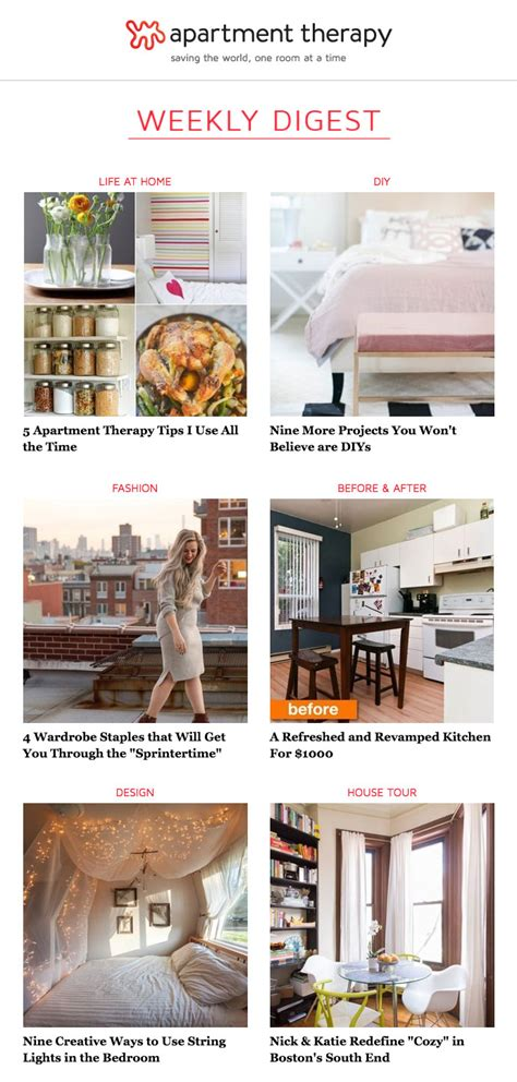 apartment therapy how 3 publishers grow their audience with email marketing