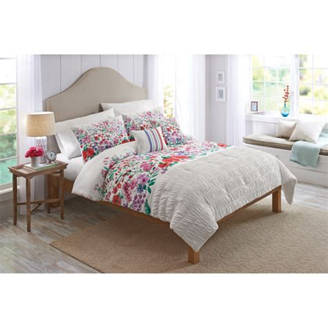 watercolor bedding set better homes and gardens watercolor floral 5 piece bedding