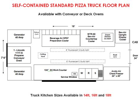 vehicle floor plan food truck layout