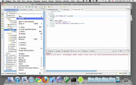 javascript for android how to build android app with html5 css javascript