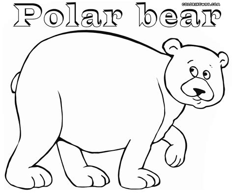 coloring page of a polar bear polar bear coloring pages coloring pages to download and